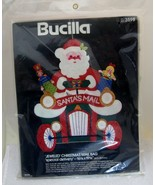 Vtg Bucilla Christmas Santa's Mail Bag Jeweled Felt Kit 3598 RARE Never ... - $88.61