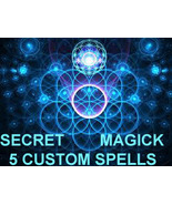 Haunted CUSTOM 5 SINGLE SPELLS JEWELRY W/ YOUR INFO MAGICK DEAL OFFER C... - $157.77