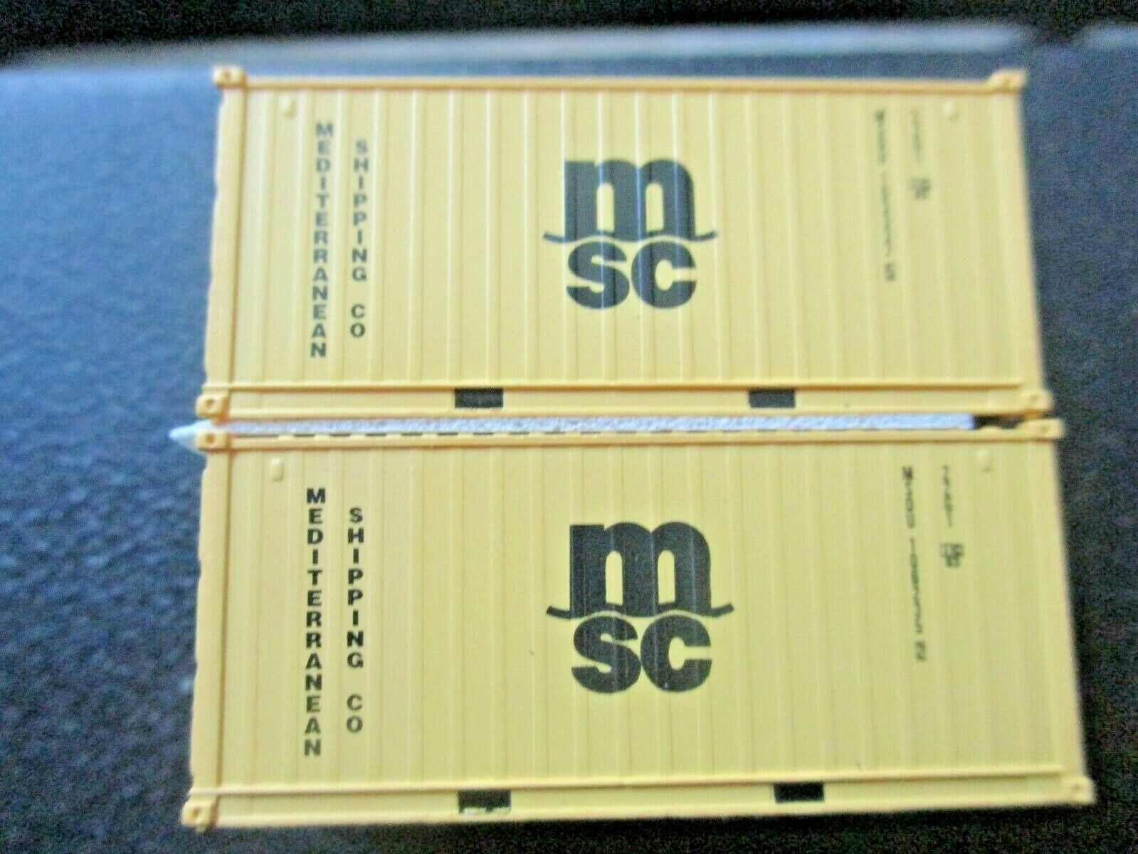 Jacksonville Terminal Company # 205380 MSDU MSC 20' ECO-CONTAINER N-Scale