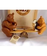 Celebration Wooden Gift Craft Pozy Bear Simple Pleasures Teeter Totter F... - $34.25