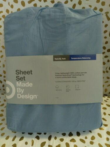 Made By Design Brave Blue Twin/Twin XL Temperature Balancing Sheet Set NWT
