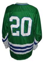 Custom Name # Springfield Indians Retro Hockey Jersey New Green Any Size image 2