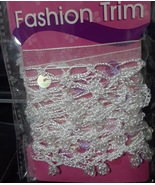 Two New Packaged of Embellished Ribbon Edging Trim for Sewing and Crafts - $4.99