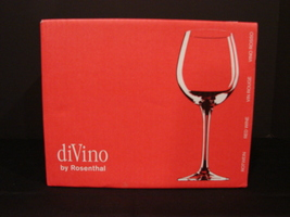 Set of 6 Crystal DiVino Red Wine Goblets 0.48ltr by Rosenthal NIB - $42.00