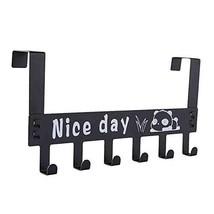 HAI+Over The Door Hook, Removable Door Hanger Holder Rack, 6 Cubicle Cabinet Hoo image 1