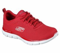 Skechers Red Shoes Women Memory Foam Sport Train Walk Comfort Casual Mes... - $39.99