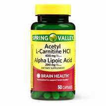 Spring Valley Acetyl L-Carnitine HCL And Alpha Lipoic Acid Capsules, 50 ... - $26.59