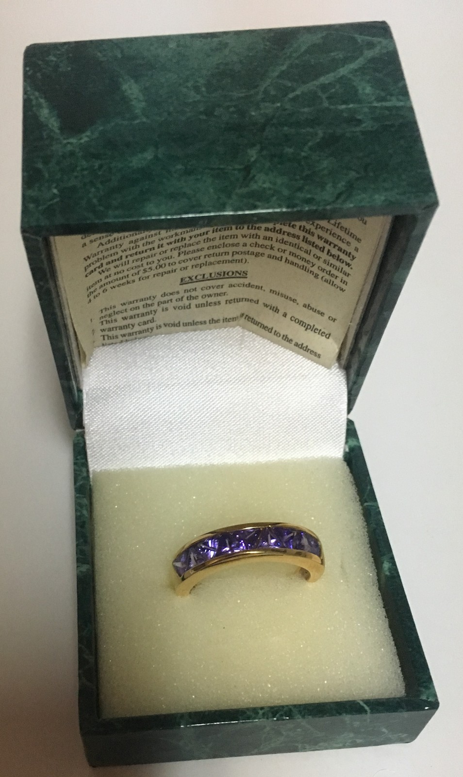 Suzanne Somers 1990's Collection Sterling Silver 925 Amethyst CZ Ring SZ 10