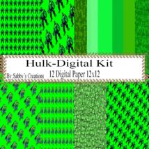 Hulk Digital Kit-Digtial Paper-Art Clip-Gift Tag-Jewelry-T shirt-Noteboo... - $5.00
