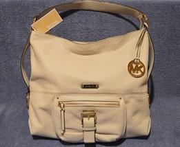 2d130c0c06d6 Michael Kors AUSTIN Large Leather Shoulder Tote Handbag Purse Vanilla Of...  - £