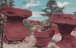 Two Mushrooms Garden of the Gods Colorado CO 1912 Denver Glasco KS Postc... - $4.99