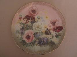 POPPY PASTORALE collector plate LENA LIU Symphony of Shimmering Beauty F... - $28.00