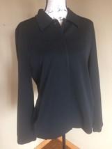 Talbots Sz 8 Short Crop Coat Blazer Hidden Buttons front Stretch Jacket ... - $18.69