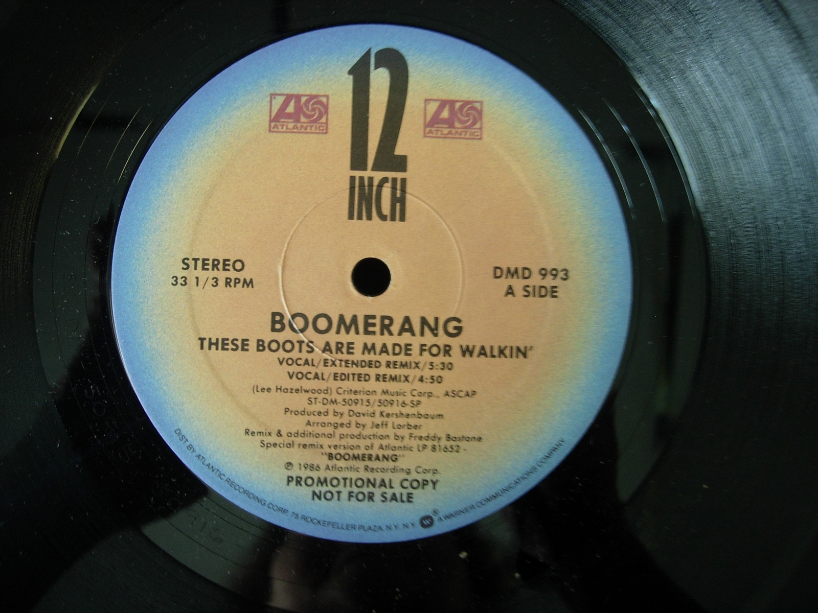 Boomerang - These Boots Are Made For Walkin - Atlantic Records DMD-993