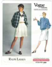 Vogue 2456 Ralph Lauren Golf Jacket, Shorts, Skirt Pattern Size 8 10 12 ... - $11.63
