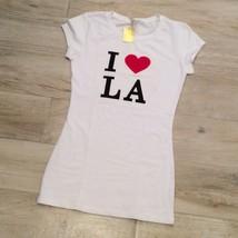 I LOVE LA TEE White S NWT - $15.99