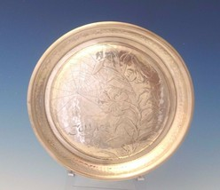 """Antique Hammered by Whiting Sterling Silver Round Tray Acid Etched 7"""" (#... - $989.00"""