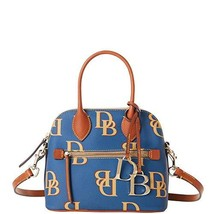 Dooney & Bourke Small Domed Monogram Satchel Crossbody Jeans Blue Purse Handbag