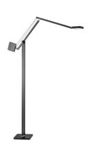 Adesso Adjustable Tall Floor Lamp  LED Light Black - $198.00