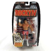 Rocky IV Rocky Balboa Figure vs Ivan Drago Post Fight USA Shorts Jakks P... - $59.39