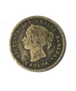 1882 H Canada 5c Five Cents Rare KM# 2 Half Dime - $98.99
