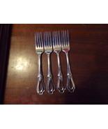 """4 Oneida Heirloom Cube Mark Toujours Dinner Forks 7 1/4"""" (2) - $109.00"""