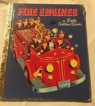 Fair Engines Fire Engine Book Little Golden Books 1969 Tibet Gergely E E... - $10.59