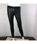 American Eagle Outfitters Women's Size 0 Black Skinny Leather Leggings P... - $23.74