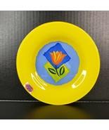 Arcoroc France Matys Dessert Plate Yellow Tempered Glass Dinnerware 7 11... - $18.00