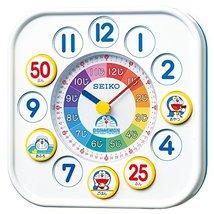 Seiko Clock (Seiko) Doraemon Educational Clock (White) Cq319w - $123.27
