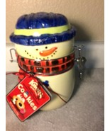 KNOTT'S BERRY FARM ---SNOWMAN  COOKIE  JAR / CANISTER---FREE SHIP--NEW - $23.51