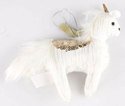 NWT 2 Target Wondershop Enchanted Eve Cloth & Sequin Unicorn Christmas Ornaments image 5