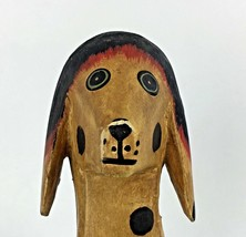Hand Made Vintage Wooden Toy Dog Animal Spots Articulated Jointed Decor ... - $108.85