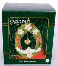 Carlton Cards Christmas Ornament Two Turtle Doves No. 160 1999 - $17.82