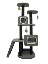 Cat Tower 5-Level Climbing Tree, Includes Hideaways and Perches, and Cat... - £120.52 GBP