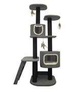 Cat Tower 5-Level Climbing Tree, Includes Hideaways and Perches, and Cat... - £114.39 GBP