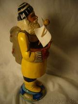 Vaillancourt Folk Art Sea Coast Santa in Yellow Slicker Holding Boat Signed image 4