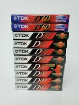 7 TDK D 90 & 3 D60 High Output Audio Cassette Tapes, Lot Of 10 (New Sealed) - $23.36
