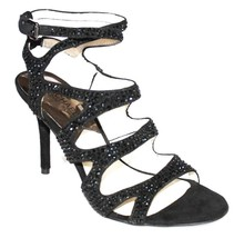 Women's Shoes Michael Kors Yvonne Ankle Strap Sandals Heels Studded Black - $89.10