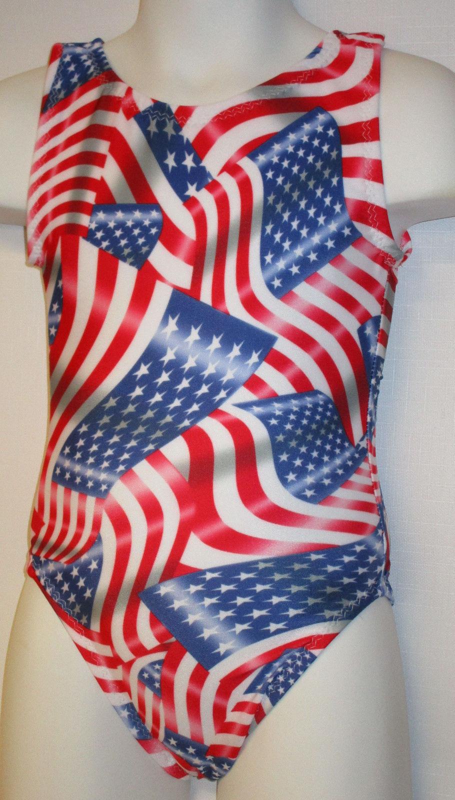 FlipFlop Leos Gymnastics Leotard,  Gymnast Leotards - FLAG, GO USA! for sale  USA