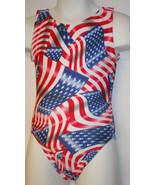 FlipFlop Leos Gymnastics Leotard,  Gymnast Leotards - FLAG, GO USA! - $16.00