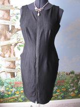 Calvin  Klein Black Zipper Front  Sleeveless  Dress SZ 10 NWT - $64.34