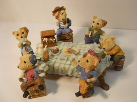 PIRATE BEARS BEER PARTY FIGURINE SET HAND PAINTED 7 PCS #Fig702 - $44.99
