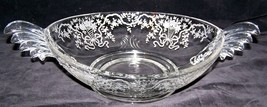"16"" FOSTORIA BAROQUE Winged Console Bowl Crystal CORSAGE Etching 1937-58... - $29.99"