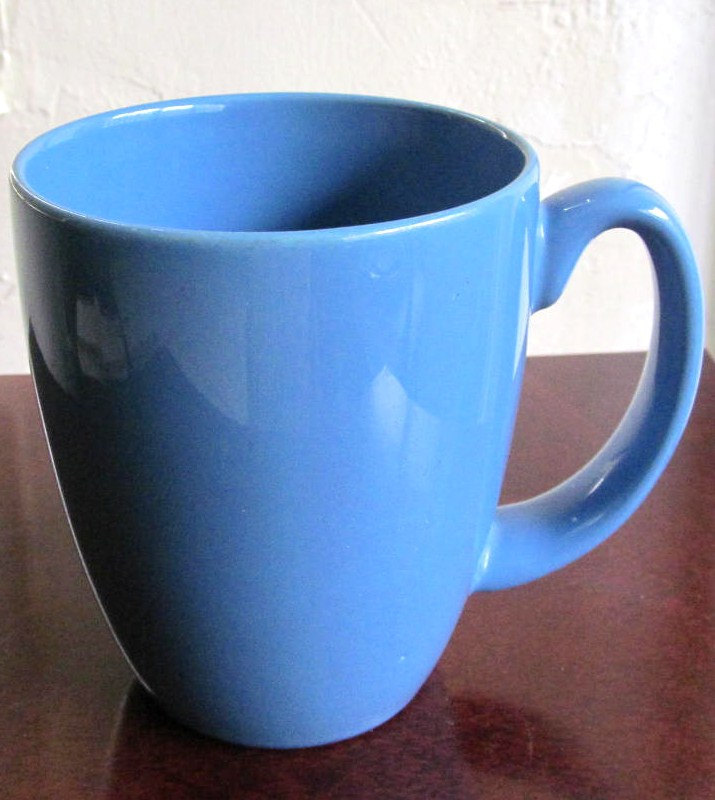 Vintage (1) Blue Color Corelle By Corning Collectible Stoneware Mug