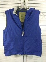 The Gap,Boys,Size Small,Blue,Full Zip,Mesh Inside,Fanny Pack,Vest,Hood - $14.84