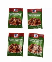 Lot of 4 McCormick Italian Mushroom Spaghetti Sauce Mix 1.5 oz Exp 7/2022 - $24.75