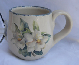 2 HOME & GARDEN PARTY Magnolia mug cup coffee STONEWARE - $21.87