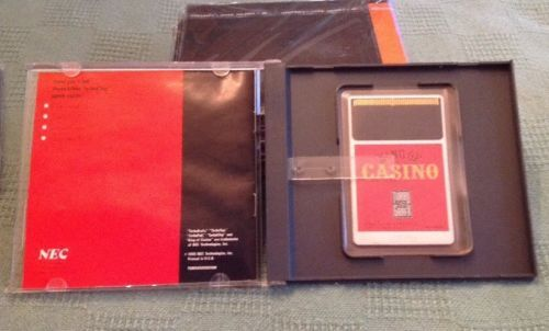 Turbo Grafx 16 Hu-Card King of Casino. 1990. Very Good.