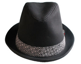 UGP Under Ground Products Grems Mens Black and White Ska Fedora Hat NWT image 3